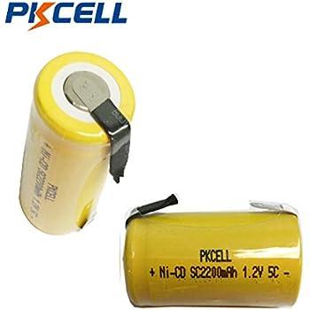 Amazon Com Hyperps 2 Pcs 1 2v Sub C Subc 1800mah Nicd Ni