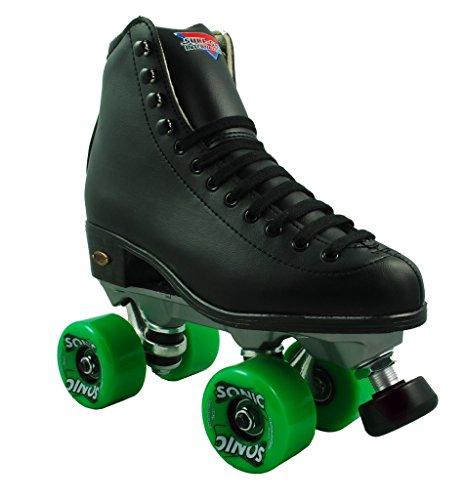 Sure Grip Sonic Fame Black Outdoor High Top Roller Skates