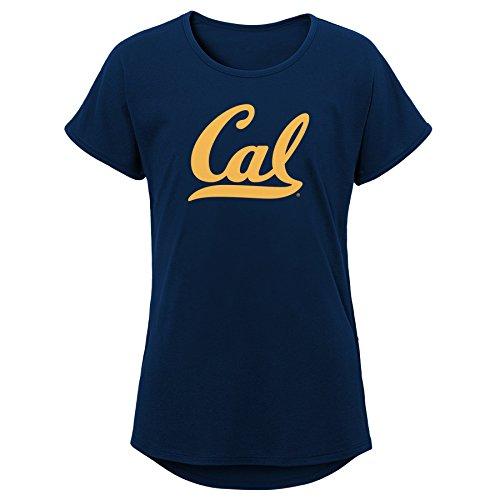 (NCAA California Golden Bears Youth Girls Primary Logo Dolman Tee, Youth Girls Medium(10-12), Dark Navy)