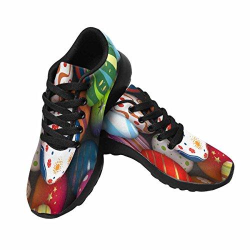 Interessante Womens Da Jogging Da Corsa Sneaker Leggero Go Easy Walking Casual Comfort Da Corsa Scarpe Easter Eggs Multi 1