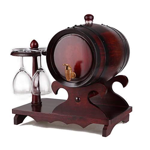 BETTY Dispensador de Vino a Granel de Madera de 5 L Oak Barrels para almacenar Whisky, Ron, Tequila, borbón, Whisky y Vino,...