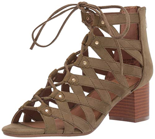Aerosoles A2 Women's Middle-NA Heeled Sandal, Mid Green Combo, 12 M US