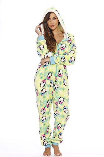 6420-M #FollowMe Adult Onesie / Onesies / Pajamas,Medium,Snowy Penguin
