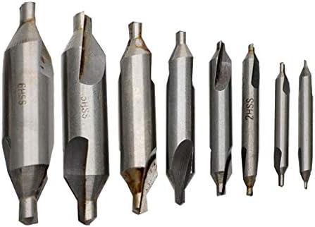 D DOLITY 8個 HSSセンタードリル 1 / 1.5 / 2 / 2.5 / 3/4/5 / 6mm 旋盤作業工具 セット