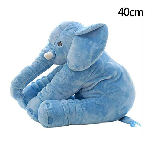 DREAMVAN New Kids Children Baby Girls Cotton Blend Plush Cute Elephant Doll Toys Plush Puppets (Z - Blue)