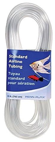 Penn Plax Airline Tubing for Aquariums –Clear and Flexible Resists Kinking, 25 Feet Standard - Any Aquarium Air Pump