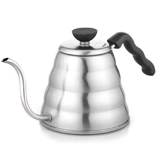 Hario VKB-120HSV V60 Buono Stainless Steel Stovetop Drip Kettle, 1.2L, 1200 mL, Original (1.2L/1200 mL) by Hario