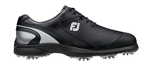 FootJoy Sport LT Golf Shoes (10, Black/Silver-M) by FootJoy (Image #1)