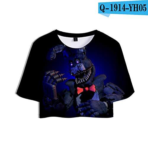 - KoreaFashion FNAF Shirt Cotton Merch Shirts for Boys Girls Youth Birthday Welcome Funny Nightmare