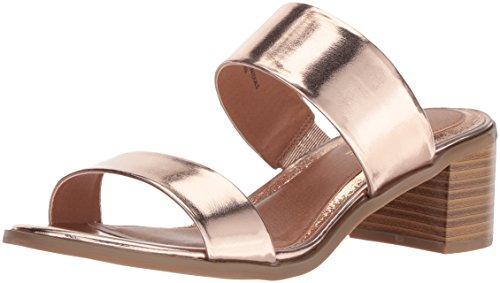 Rampage Women's Ram-Hatty Heeled Sandal, Rose Gold/Metallic, 7 M US