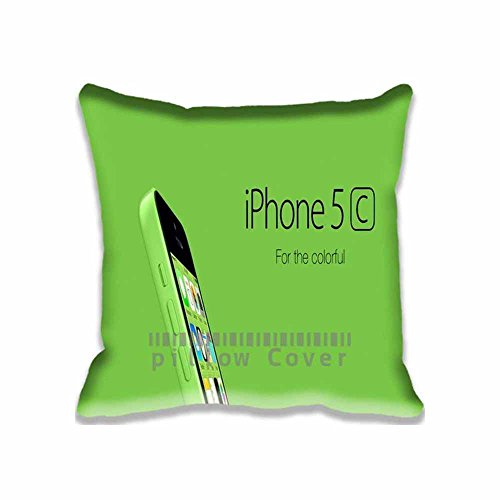 Custom Design iPhone 5C Green For Colorful Pillow Cases Zippered , Standard Square Computers Pillowcase - 18X18inch Mac Cushion Covers Two Size (Cute Halloween Wallpaper Iphone)