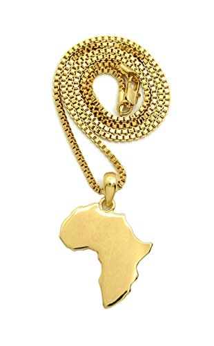 lished Africa Map Shape Pendant 18