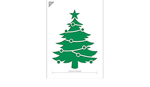 Christmas Tree stencil A5 A4 A3 A2 A1 A0 14cm to 1.2 meters or bigger CMAS019