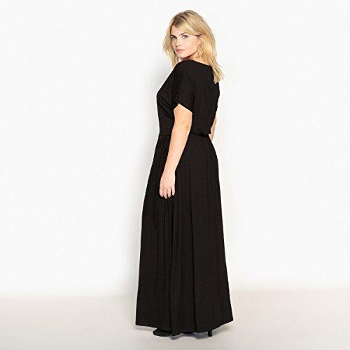 An Castaluna Langes Frau Schwarz Der Kleid Kordelzug Taille 8x8TqIr