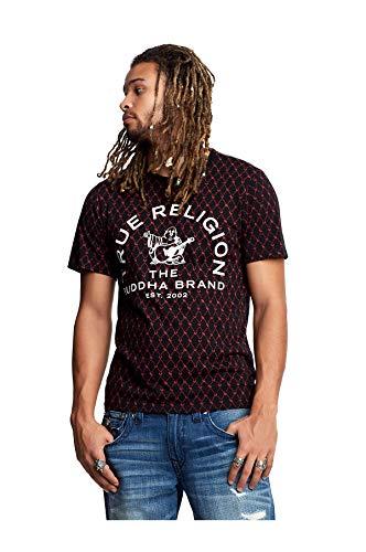 Buddha Tee Shirts - True Religion Men's Buddha Logo Monogram Tee, Black, M