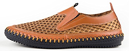 Mesh Men's Shoes On for Water Loafers Walking Shoes Slip Casual Brown gS1OtFx