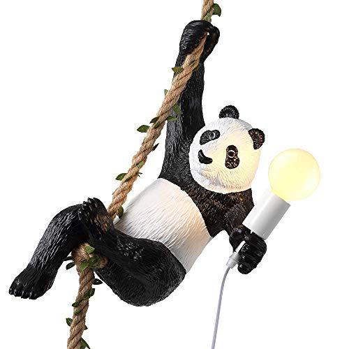 Chandelier/Pendent Lamp,Bracket Light/Wall Hanging Lamp, Non-Friable Plastic Led Panda Lamp E27,Suit for Art Restaurant Bedchamber [Energy Class a ++], BOSSLV