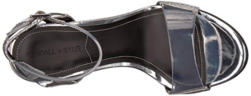 amp; Sandal Kylie Heeled Women's Silver Enya Kendall TwO0xnx