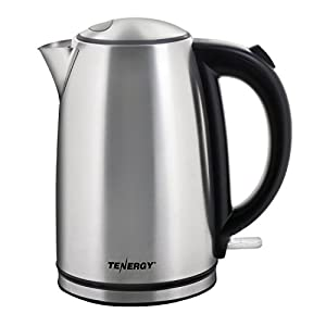 Tenergy Electric Kettle 1.7L 1500W Cordless Stainless Steel Water Heater Kettle, Auto Shut-off Boiler, Boil Dry Protection with Strix Thermostat Control, FDA Approved