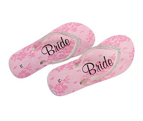 (Lillian Rose FF182 MB Bride Women Medium 7-8 Flip Flops, Multicolor)