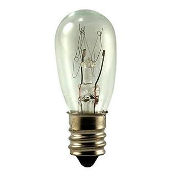 Pack of 10 24V 6W S-6 Candelabra Base Light Bulb Eiko 6S6//24V-10 6S6//24V