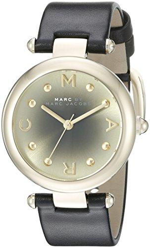 Marc Jacobs Women's Dotty Black Leather Watch - - Women Marc Jacobs Watches Black