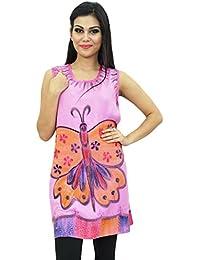 Indian Dress Embroidered Rayon Dress Women Clothing Hippie Bohemian Kurti
