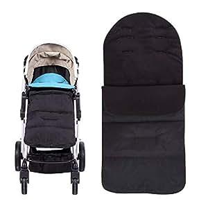 Universal Waterproof Baby Stroller Bunting Bag Pushchair Footmuff Sack Sleeping Bag Infant Car Seat Cover Windproof Detachable Blue