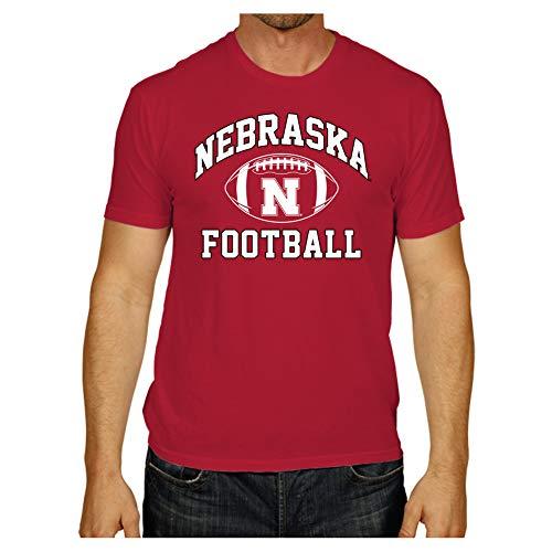 Elite Fan Shop Nebraska Cornhuskers Tshirt Red Football - XL ()