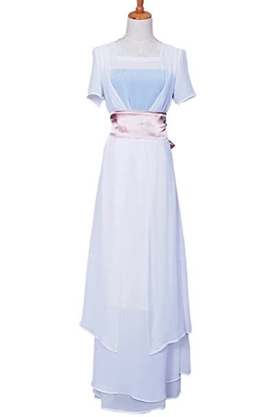 1900s, 1910s, WW1, Titanic Costumes FancyStyle Titanic Cosplay Rose Costume Swim Gown Dress White $98.00 AT vintagedancer.com
