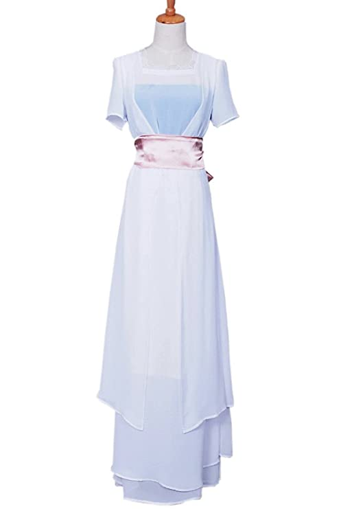 1900-1910s Clothing FancyStyle Titanic Cosplay Rose Costume Swim Gown Dress White $98.00 AT vintagedancer.com
