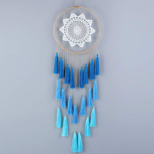 Buvelife Dream Catchers Handmade Tassel 8inch Dream Catcher Wall Decoration (Blue)