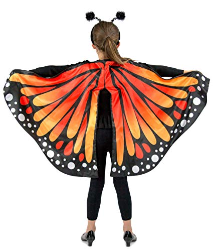 Princess Paradise Monarch Butterfly Cape Child's Costume, One Size