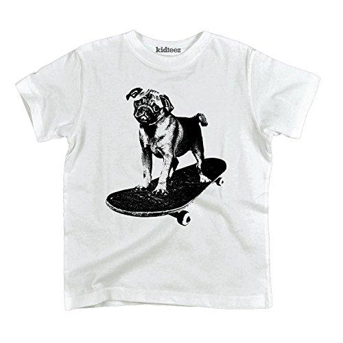 Air Waves Skateboard, Pug -Toddler Short Sleeve TEE-3T