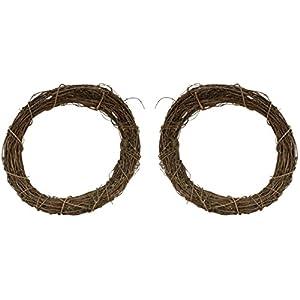 Natural Grapevine Wreath - 8 Inch Diameter - Set of 2 58