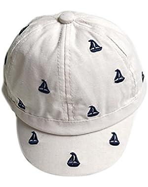 Small Sailboat Printing Baby Baseball Caps (Beige)