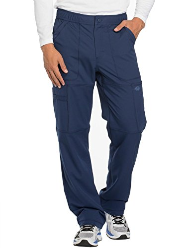 Dickies Tie (Dickies Dynamix Men's Zip Fly Cargo Scrub Pant Large Navy)