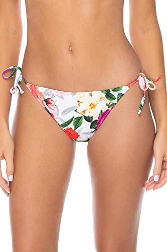 (Sunsets Women's California Dreamin' Tie Side Bikini Bottom Swimsuit, Rose Garden, Large)