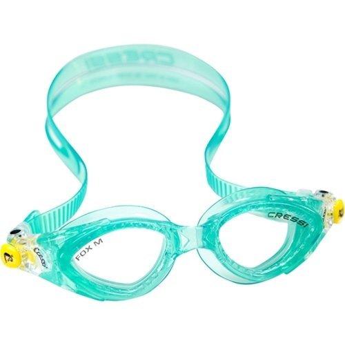 Cressi Swim Fox SMALL Fit Swimming Goggles UV Protectctive Silicone Goggle (Green) ()