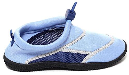 Kinder Jungen Mädchen Unisex Aquaschuhe Badeschuhe Schwimmschuhe Surfschuhe Duschschuhe Badelatschen Strandschuhe Aktivschuhe für Wassersport blau
