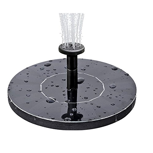 COSSCCI Solar Fountain Water Pump for Bird Bath, Submersible Solar Panel kit Pond Pumps for Small Pond Patio Garden Outdoor (1.4W) ()