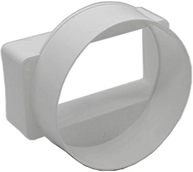 Redondo a Rectangular Kair cortocicuitos hembra adaptador (110 x 54 mm Rectangular a 100 mm redondo) - SYS-100 - DUCVKC241: Amazon.es: Bricolaje y herramientas