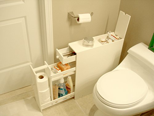 Proman Products Bathroom Floor Cabinet Wood in Pure White by Proman Products (Image #16)