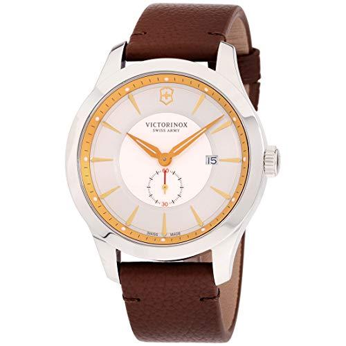 Victorinox Men's Alliance Stainless Steel Swiss-Quartz Watch with Leather Strap, Black, 21 (Model: 241767)
