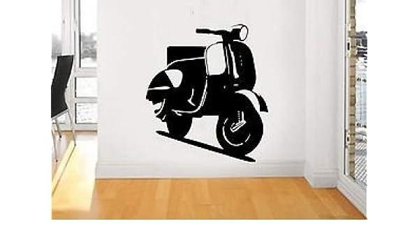 Vespa patinete, vehículo, imagen icónica, de vinilo, diseño ...
