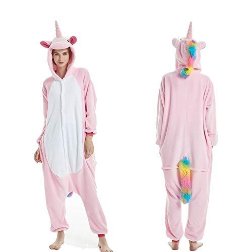 Fleece Onesie Pajamas for Women Adult Cartoon Animal Unicorn Christmas Halloween Cosplay Onepiece Costume(D-M)