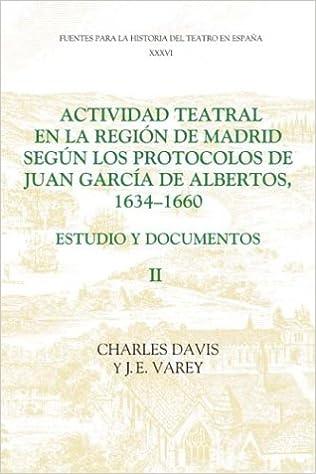 Actividad teatral en la región de Madrid según los protocolos de Juan García de Albertos, 1634-1660: II: Estudio y documentos : .