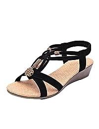 ASTV Women's Summer Fashion Metallic Gladiator Slim Dress Sandal
