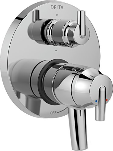 Delta Faucet T27959 Trinsic Contemporary Monitor 17 Series Valve Trim with 6-Setting Integrated Diverter, Chrome,