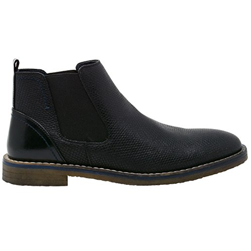 Alpin Swiss Mena € ™ S Nash Chelsea Boots Slangeskinn Ankel Boot Ekte Skinn Foret Sort